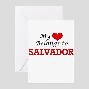 My heart belongs to Salvador Greeting Cards