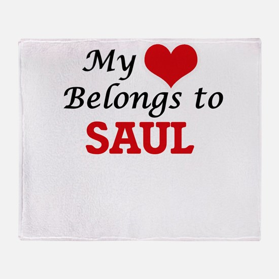 My heart belongs to Saul Throw Blanket