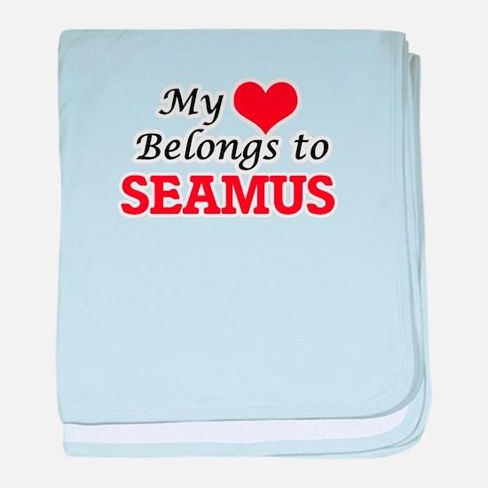 My heart belongs to Seamus baby blanket