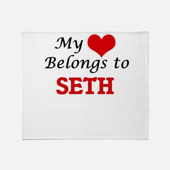My heart belongs to Seth Throw Blanket