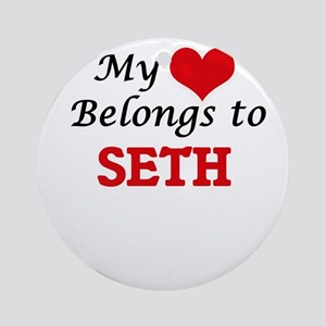 My heart belongs to Seth Round Ornament