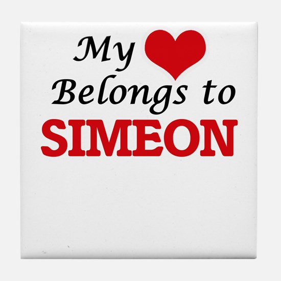 My heart belongs to Simeon Tile Coaster