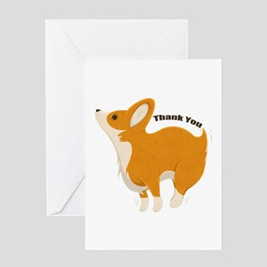 Thank You Corgi Greeting Cards