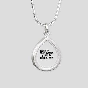 I Am Godfather Silver Teardrop Necklace