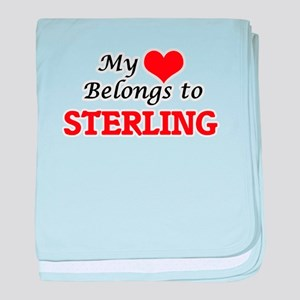 My heart belongs to Sterling baby blanket