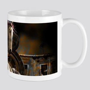 Steampunk, awesome horse with clocks Mugs