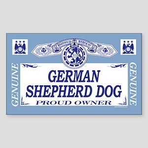 GERMAN SHEPHERD DOG Rectangle Sticker