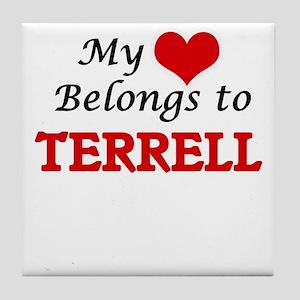My heart belongs to Terrell Tile Coaster