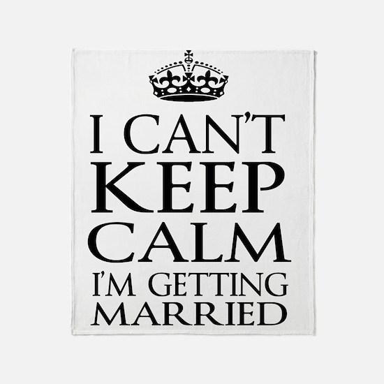 Cute Just married gay Throw Blanket