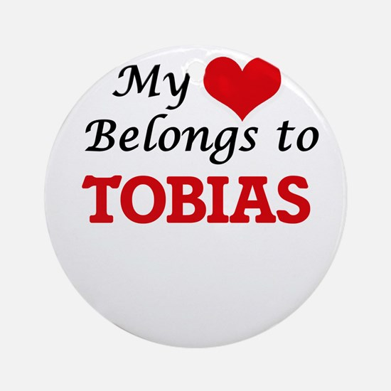 My heart belongs to Tobias Round Ornament