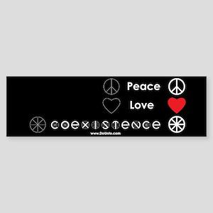 Peace Love Coexist Bumper Sticker