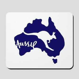 Aussie Roo Blue Mousepad