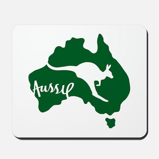 Aussie Roo Green Mousepad