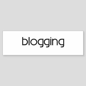 Blogging (modern) Bumper Sticker
