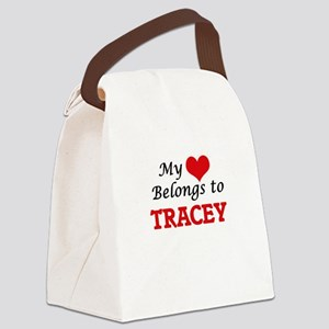 My heart belongs to Tracey Canvas Lunch Bag