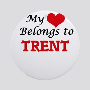 My heart belongs to Trent Round Ornament