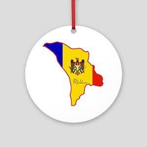 Cool Moldova Ornament (Round)