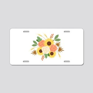Fall Harvest Bouquet Aluminum License Plate