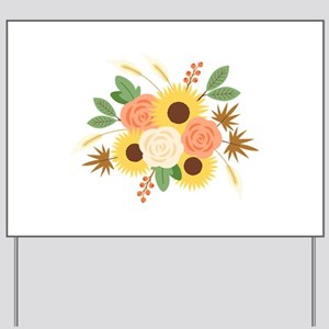 Fall Harvest Bouquet Yard Sign