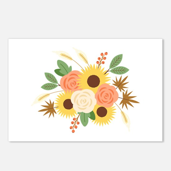 Fall Harvest Bouquet Postcards (Package of 8)