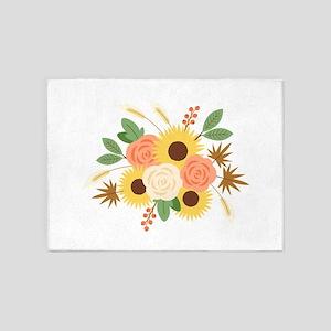 Fall Harvest Bouquet 5'x7'Area Rug