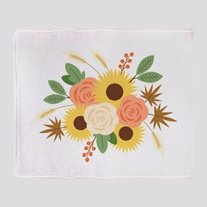 Fall Harvest Bouquet Throw Blanket
