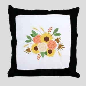 Fall Harvest Bouquet Throw Pillow