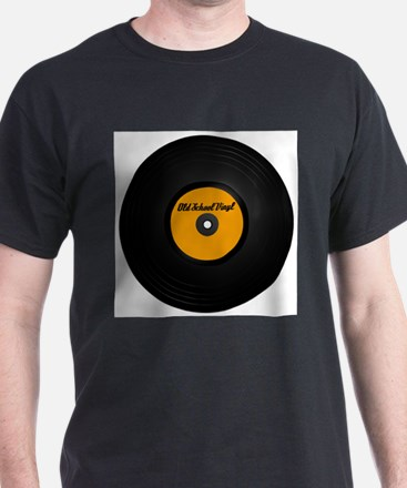 Vinyl Record Ash Grey T-Shirt