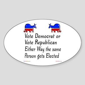 Either Way Oval Sticker
