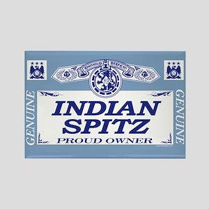 INDIAN SPITZ Rectangle Magnet