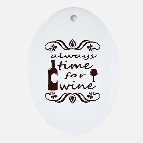 Cute Wine drinker Oval Ornament