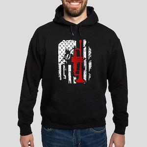 Trumpet Flag Shirt Hoodie (dark)