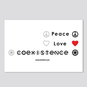 Peace Love Coexist Postcards (Package of 8)