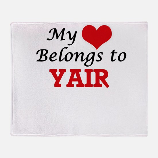 My heart belongs to Yair Throw Blanket