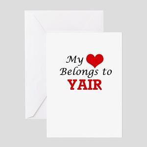 My heart belongs to Yair Greeting Cards