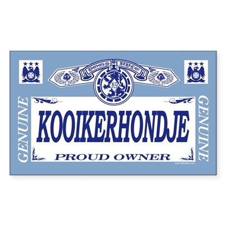 KOOIKERHONDJE Rectangle Sticker