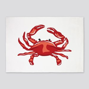 Red Crab 5'x7'Area Rug