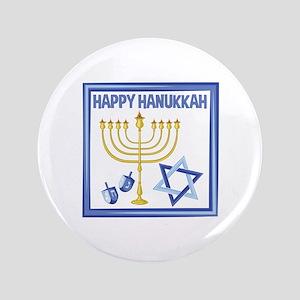 Happy Hanukkah Button