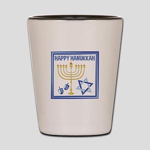 Happy Hanukkah Shot Glass