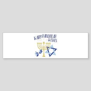 Hanukkah Wishes Bumper Sticker