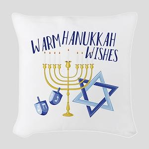 Hanukkah Wishes Woven Throw Pillow