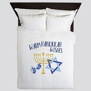Hanukkah Wishes Queen Duvet