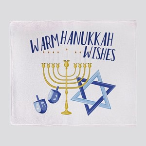 Hanukkah Wishes Throw Blanket