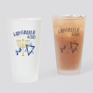 Hanukkah Wishes Drinking Glass