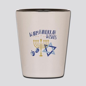 Hanukkah Wishes Shot Glass