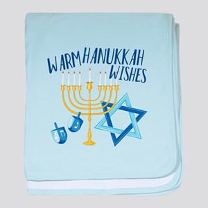Hanukkah Wishes baby blanket