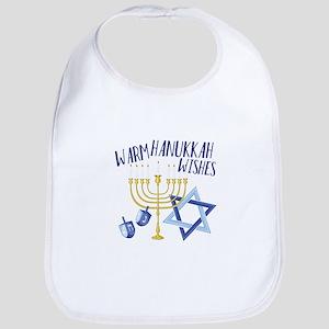 Hanukkah Wishes Bib