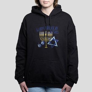 Hanukkah Wishes Women's Hooded Sweatshirt