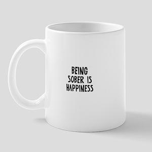 Being Sober is Happiness Mug