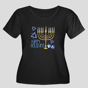 Happy Holidays Plus Size T-Shirt